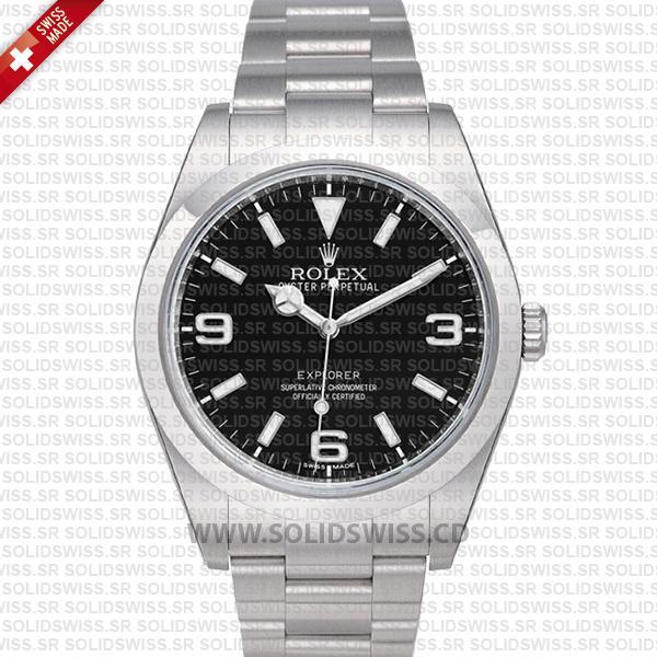 Rolex Explorer Baselworld 2016 Black Dial 39mm Replica Watch