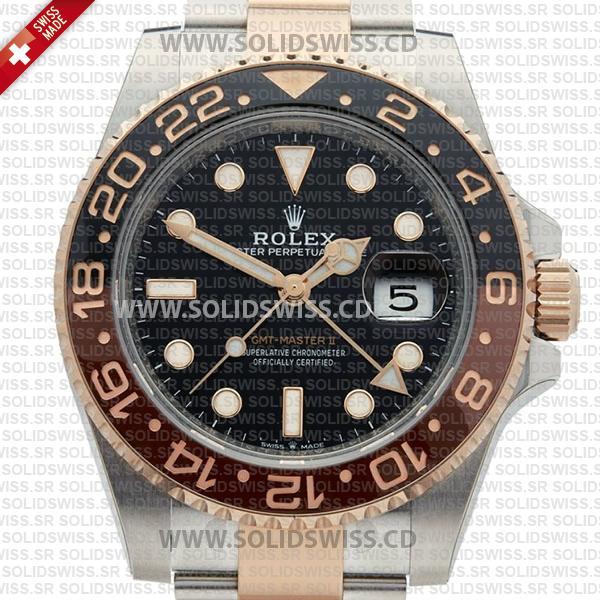 Rolex GMT-Master II Two Tone Rose Gold Replica Watch