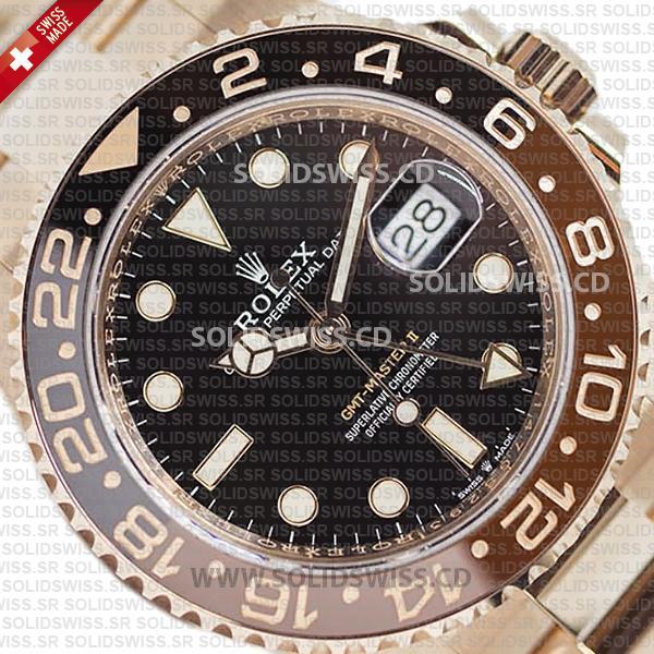 Rolex GMT-Master II Rose Gold 40mm Replica Watch