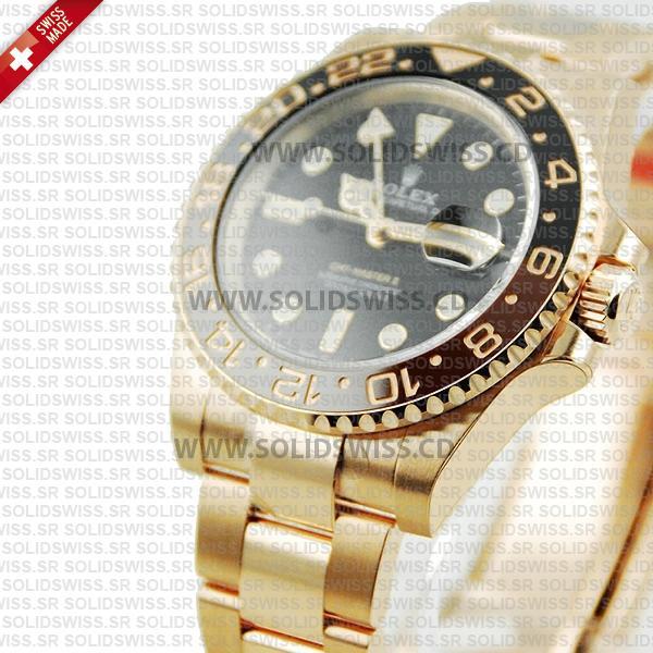 Rolex GMT-Master II 18k Rose Gold Oyster Ceramic Bezel 40mm Swiss Replica