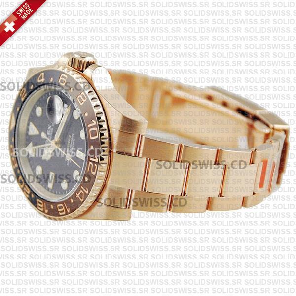 Rolex GMT-Master II 18k Rose Gold Brown Black