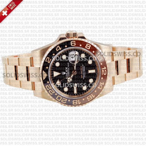Rolex GMT-Master II 18k Rose Gold