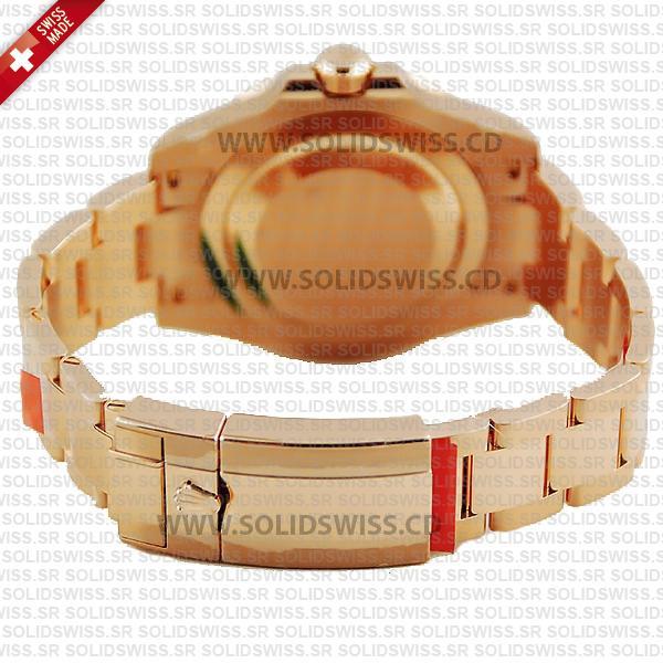 Rolex GMT-Master II 18k Rose Gold Black Dial 40mm Replica Watch