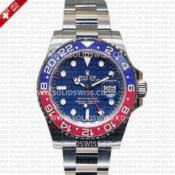Rolex GMT-Master II Pepsi Red Blue Ceramic Bezel