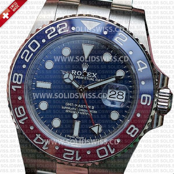Rolex GMT-Master II Pepsi White Gold Blue Dial