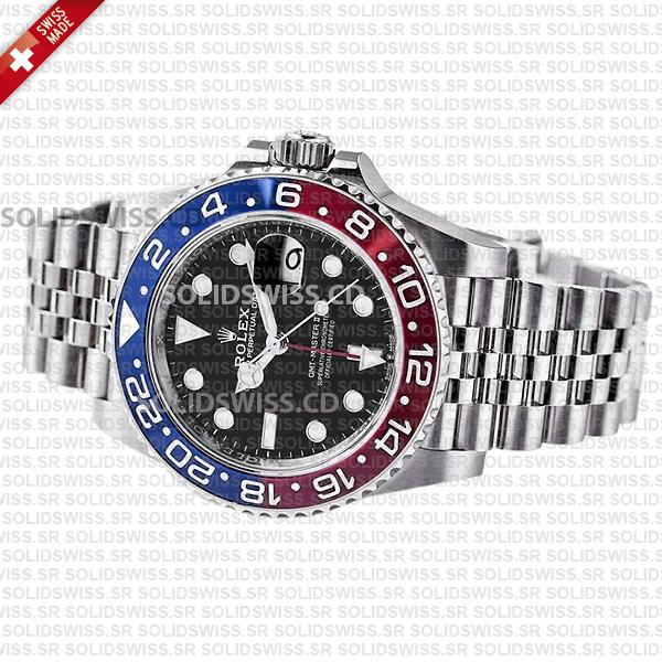 Rolex GMT-Master II Pepsi Red Blue Ceramic Bezel 40mm Black Dial