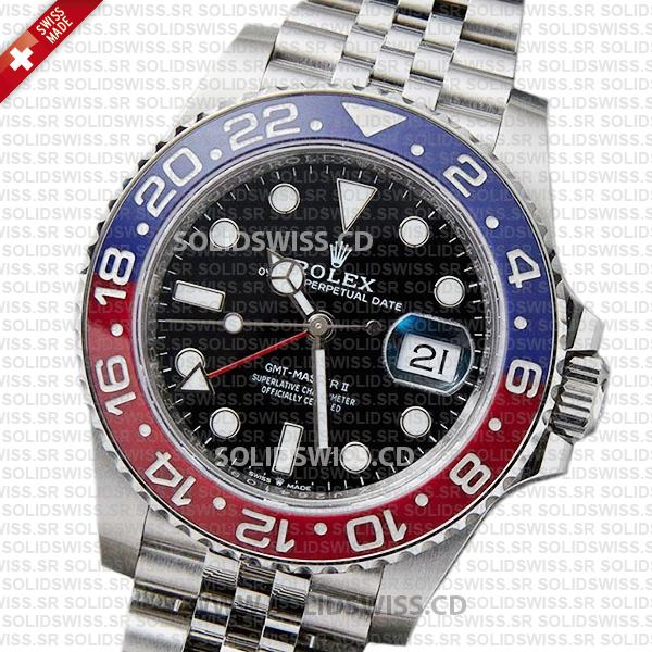 Rolex GMT-Master II Pepsi Red Blue Ceramic Bezel 40mm