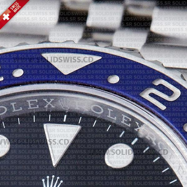 Rolex GMT-Master II Pepsi Black Dial 40mm Red Blue Ceramic Bezel