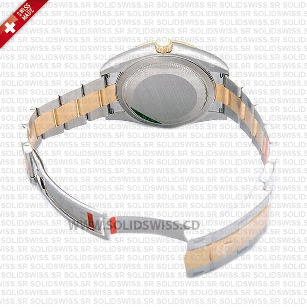 Sky-Dweller Two-Tone 18k Yellow Gold Stainless Steel Gold Dial Oyster Bracelet