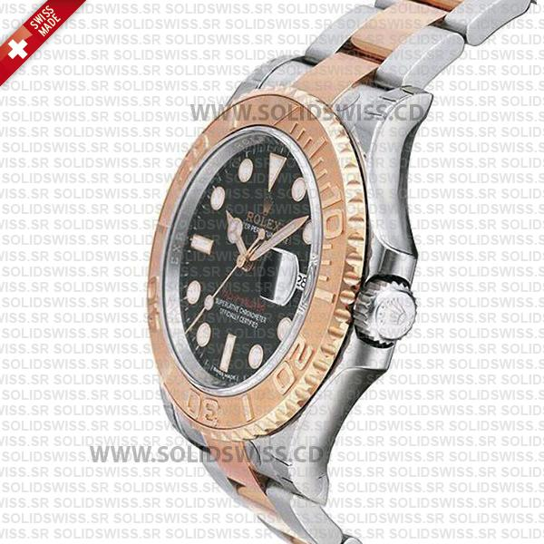 Rolex Yacht-Master Two-Tone Rose Gold Black Dial Replica