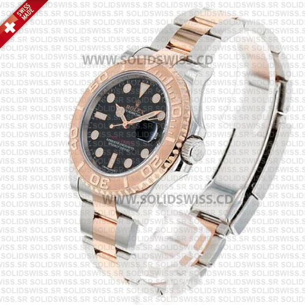 Rolex Yacht-Master Two-Tone Rose Gold Black Dial 40mm