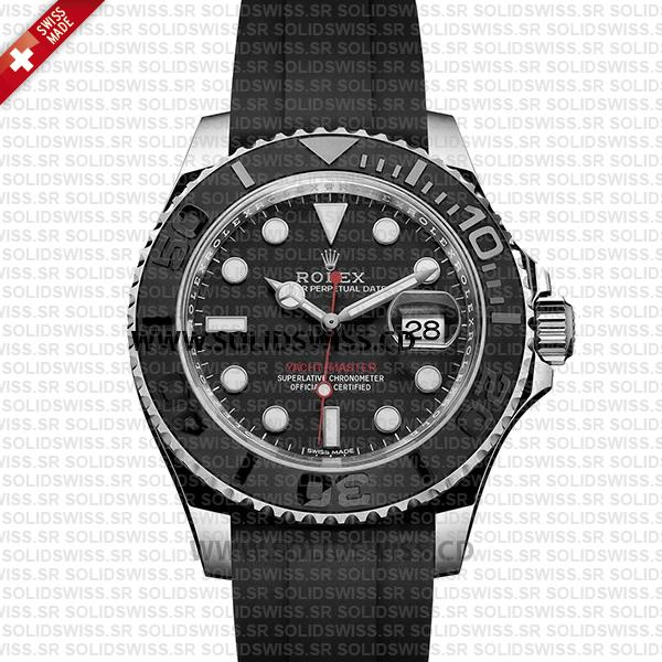 Rolex Yacht-Master Stainless Steel Black Dial Replica Watch