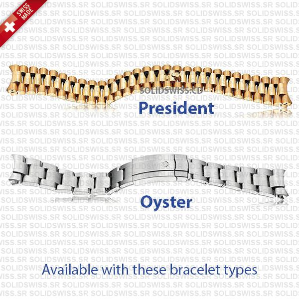 Available with these Rolex Bracelets