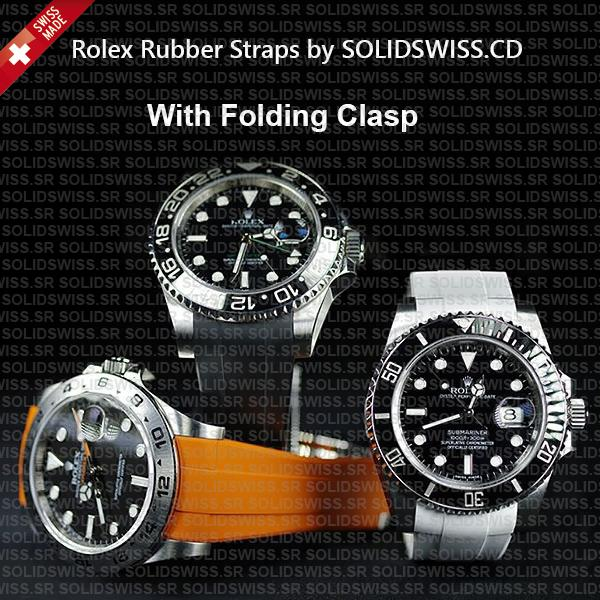 Rolex Rubber Strap Complete 904L Stainless Steel Tang Buckle