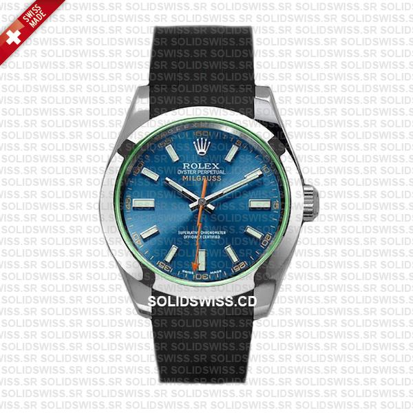 Rolex Rubber Strap Complete With 904L Stainless Steel Folding Oysterlock Clasp Solidswiss.cd