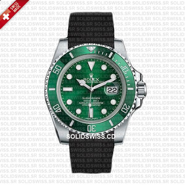 Rolex Rubber Strap Complete With 904L Stainless Steel Tang Buckle Solidswiss.cd