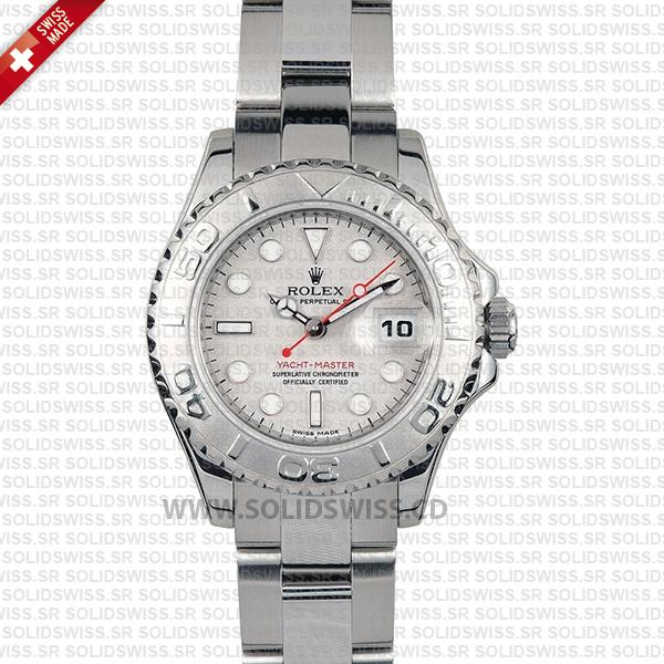 Rolex Yacht-Master 29mm Steel and Platinum Silver Dial Swiss Replica