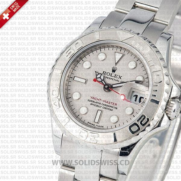 Rolex Yacht-Master Platinum Silver Dial Replica Watch