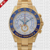 Rolex Yacht-Master II 18k Yellow Gold White Dial Blue Ceramic Bezel