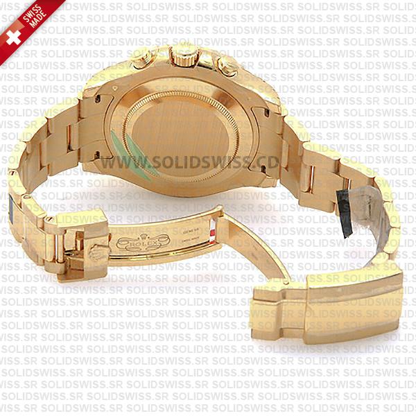 Rolex Yacht-Master II Gold White Dial 44mm Replica Watch