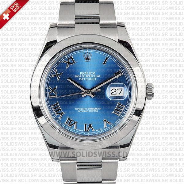 Rolex Datejust II Steel 41mm Blue Dial 116300 | Replica Watch