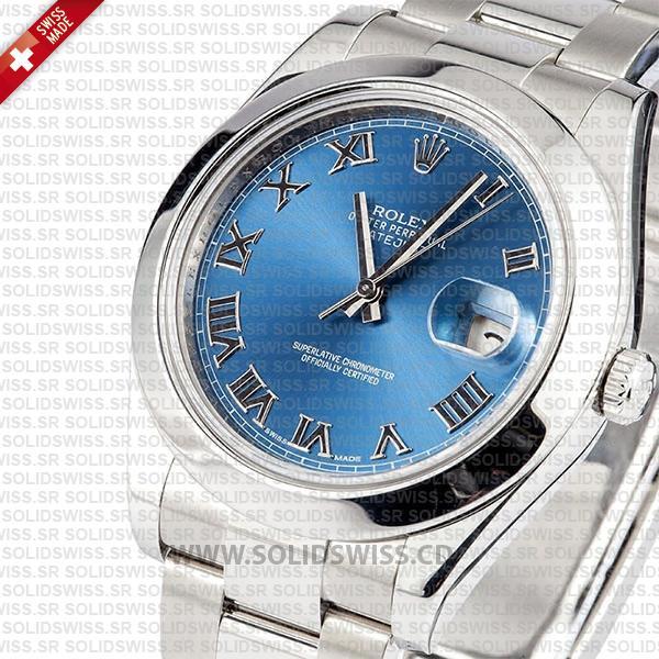Rolex Datejust II Steel Blue Dial Roman Markers 41mm