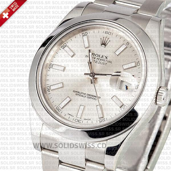 Rolex Datejust II Stainless Steel Silver Dial 41mm