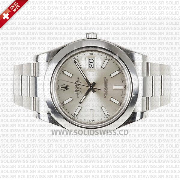 Rolex Datejust II Steel Silver Dial Stick Markers 41mm