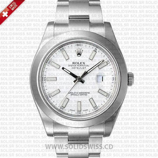 Rolex Datejust II Steel White Dial Stick Markers 41mm