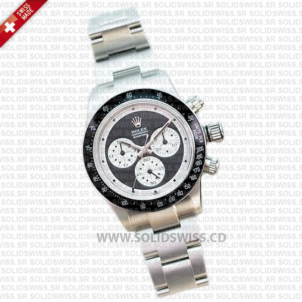 Rolex Daytona Bamford Newman Black Dial Steel 40mm Swiss replica