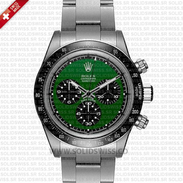 Rolex Daytona Bamford Newman Green Dial Steel 40mm Swiss replica