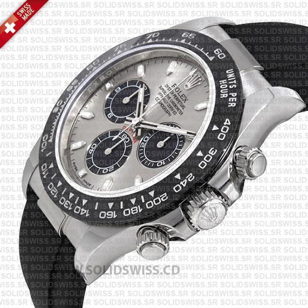 Rolex Daytona 18k White Gold Silver Dial
