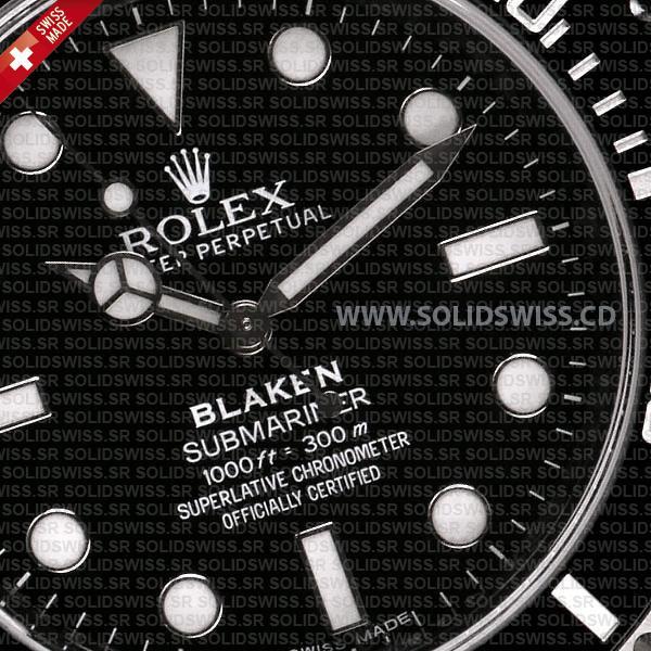 Rolex Submariner Blaken Black Dial DLC Black Ceramic Bezel 40mm Swiss Replica