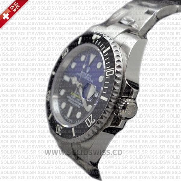 Rolex Submariner Blaken D-Blue Dial Steel   Black Ceramic Bezel