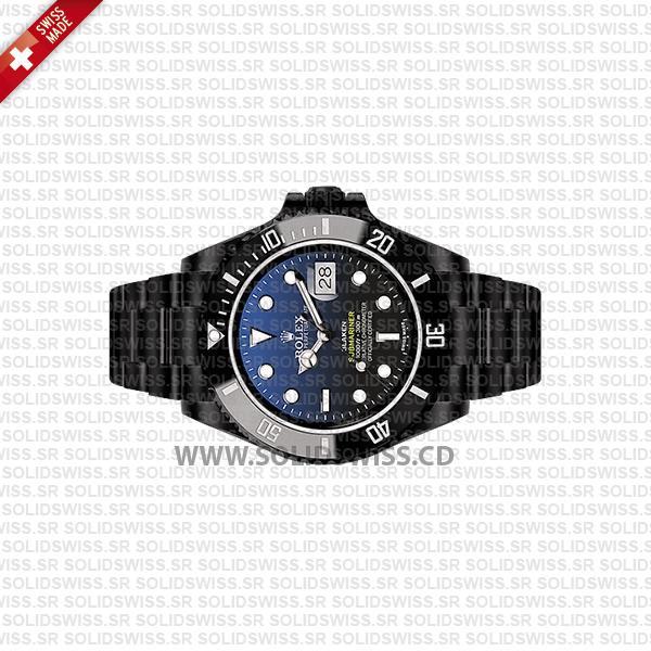 Rolex Submariner Blaken D-Blue Dial DLC Black Ceramic Bezel 40mm Swiss Replica