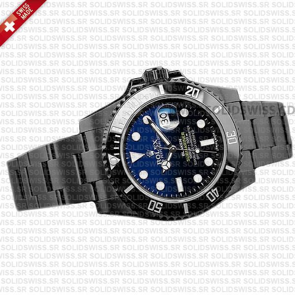 Rolex Submariner Blaken D-Blue Dial