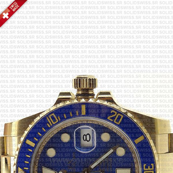Rolex Submariner Gold Blue Ceramic