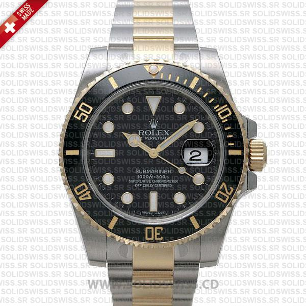 Rolex Submariner 2 Tone Black Dial | Luxury Replica Watch