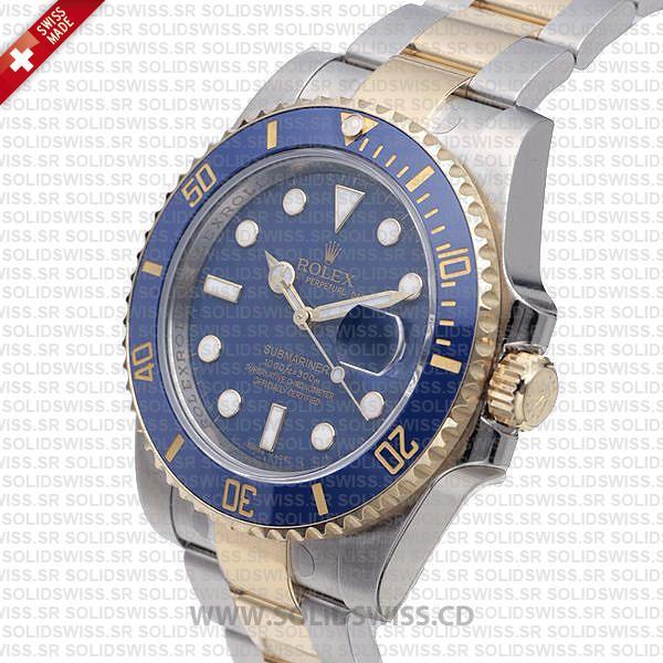 Rolex Submariner 2-Tone Blue Ceramic