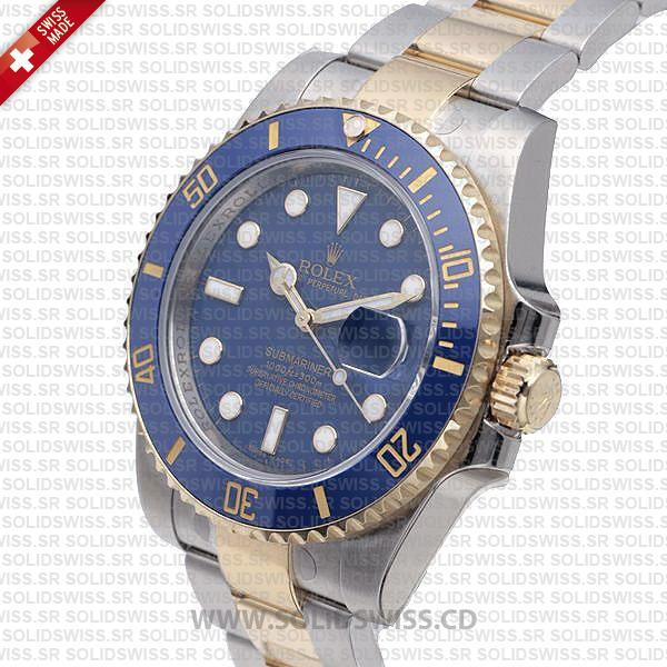 Rolex Submariner 2-Tone Blue Ceramic