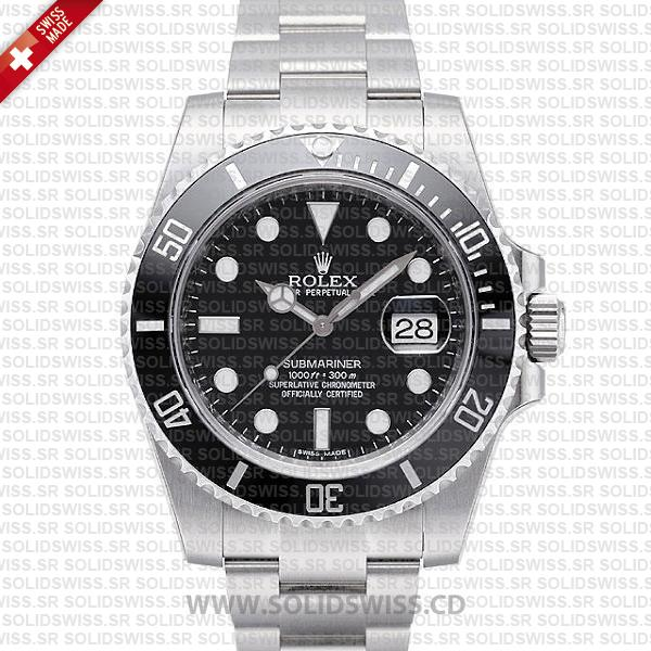 Rolex Sumbariner Steel Black Ceramic Swiss Replica