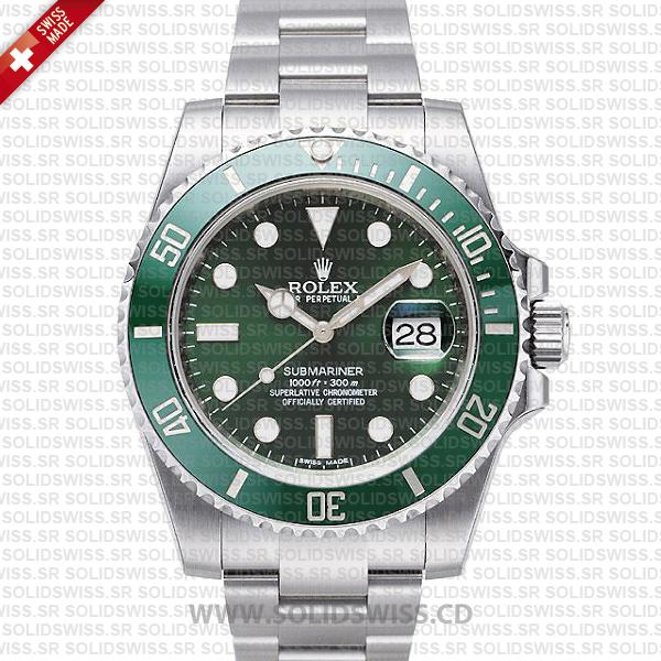 Rolex Submariner Green Dial Ceramic Bezel | Stainless Steel