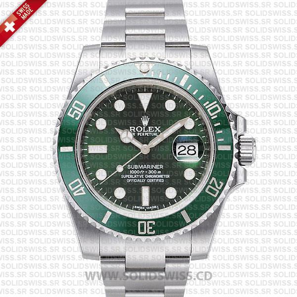 Rolex Submariner Green Dial Ceramic Bezel | Stainless Steel