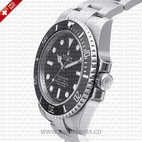 Rolex Submariner Stainless Steel Black Dial | No Date Swiss Replica Watch