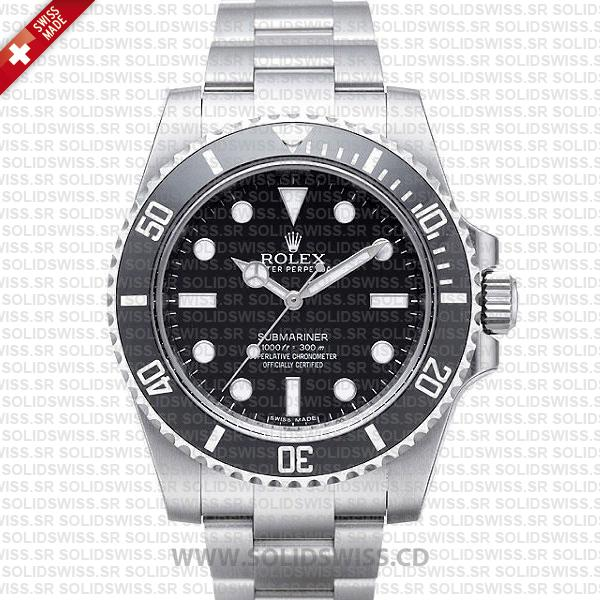 Rolex Submariner Stainless Steel Black Dial | No Date Watch