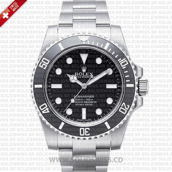 Rolex Submariner Stainless Steel Black Dial | No Date Watch