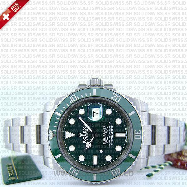 Rolex Submariner SS Green Ceramic