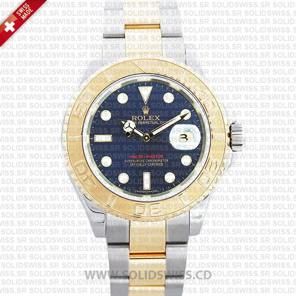 Rolex Yacht-Master Two-Tone Gold Blue Dial Watch