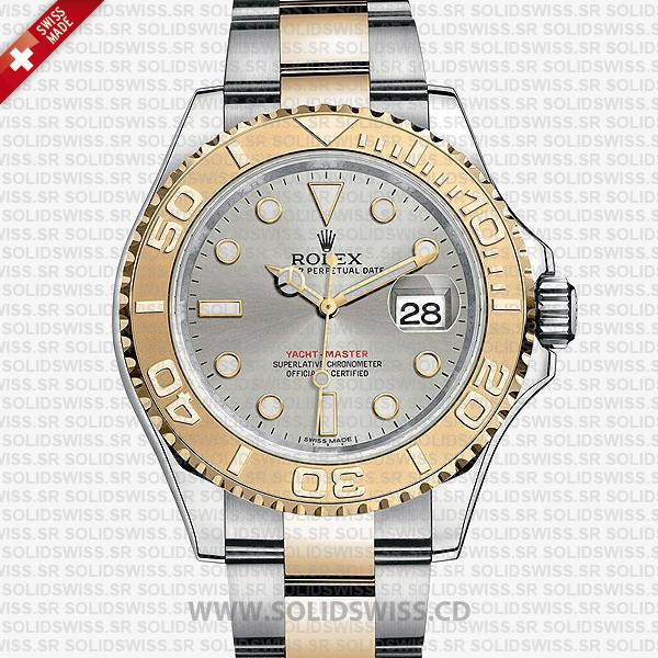 Rolex Yacht-Master Two-Tone 18k Yellow Gold/904L Steel Bracelet 40mm Silver Dial