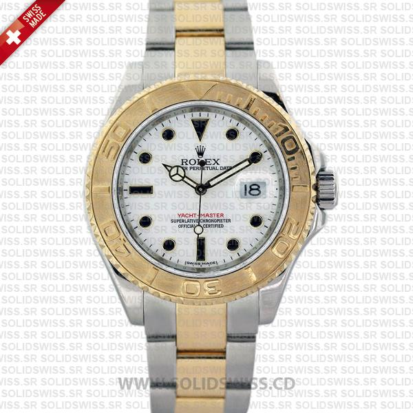 Rolex Yacht-Master Two-Tone Yellow Gold White Dial Replica Watch